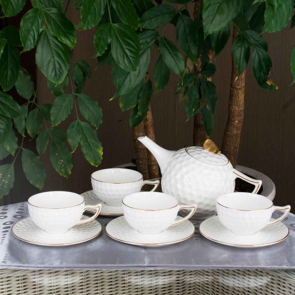 简爱 高尔夫9头茶具 茶具套装 茶杯 陶瓷杯 杯子 高档新