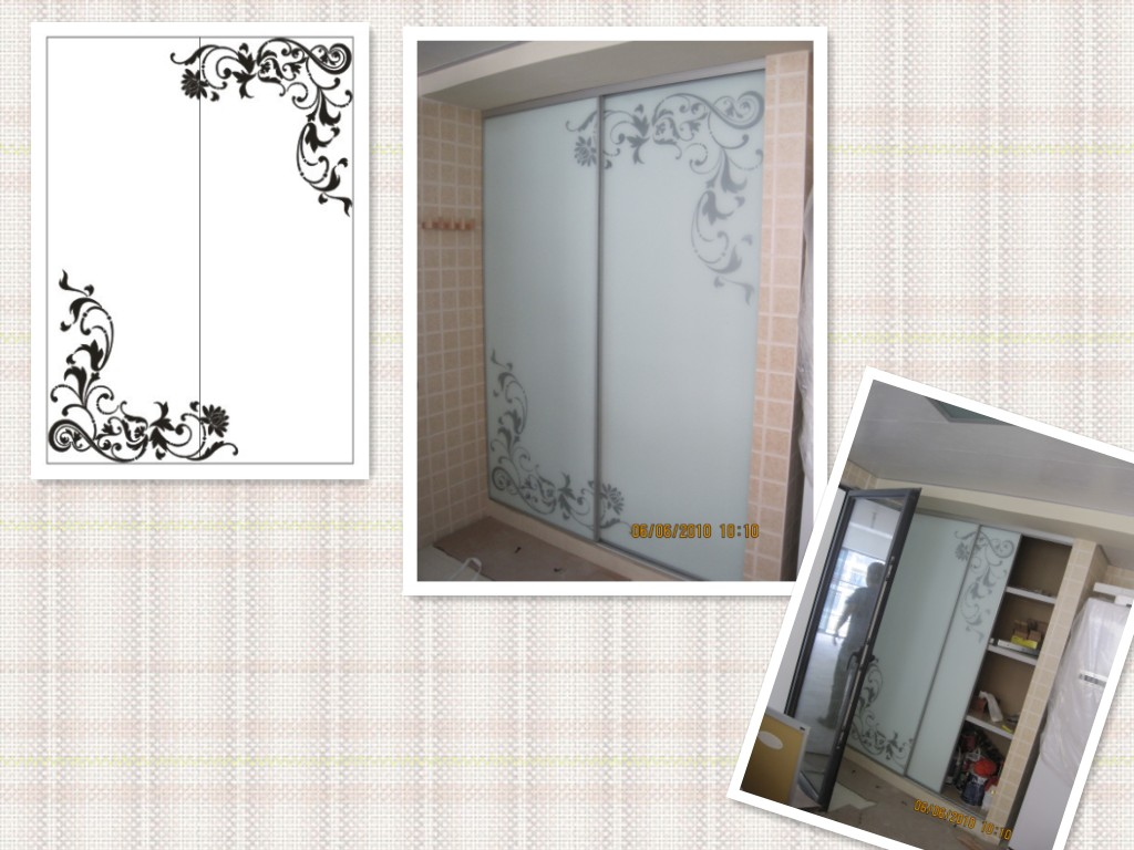 衣柜门烤漆玻璃门