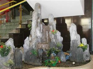大厅假山喷泉