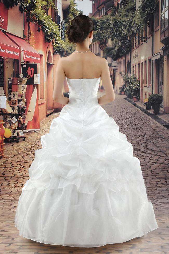 韩版公主冬季婚纱礼服