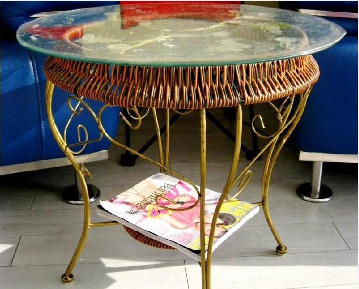 工艺仿藤桌椅