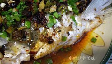 风味豆豉鱼头