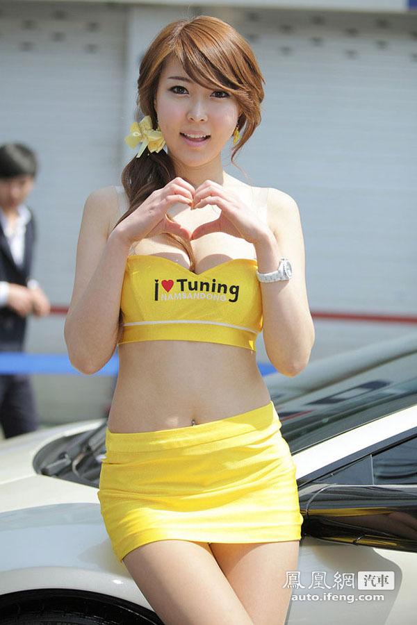 最有爱的最用心的 韩国可爱车模诠释爱心