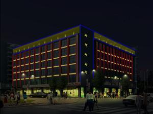 南溪凯瑞特大厦亮化效果图