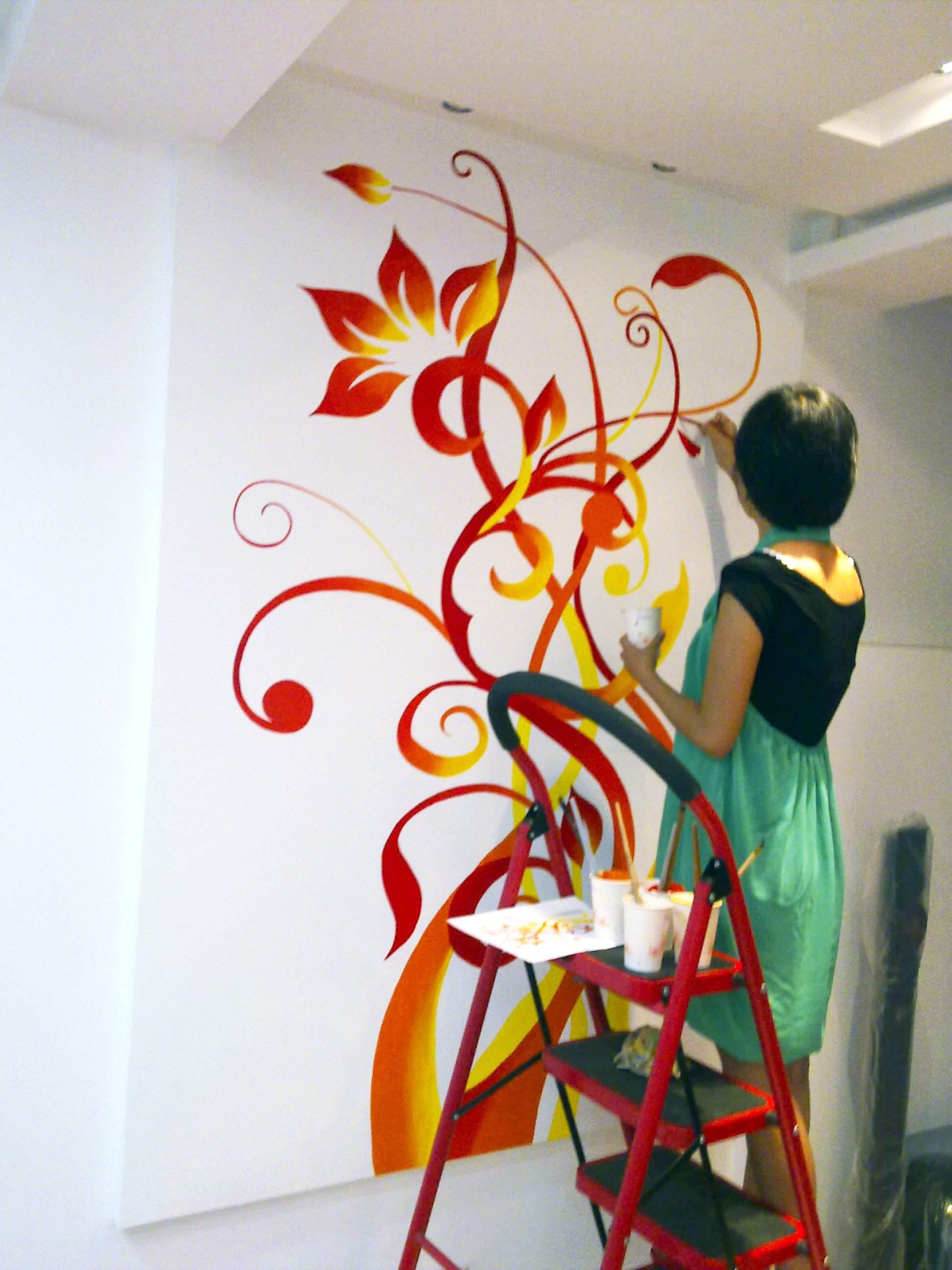 家居手绘墙画     (电视背景墙,沙发背景墙,卧室,儿童房间墙画,餐厅