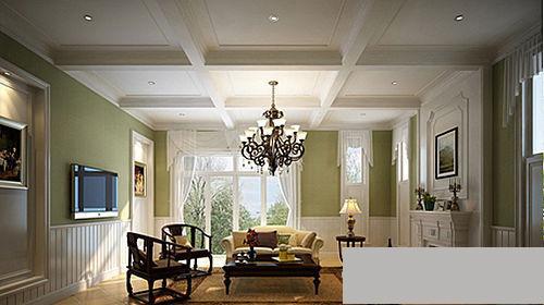 2016欧式装修效果图有台阶客厅