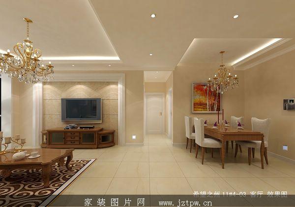 暖色调简欧风格家庭装修效果图