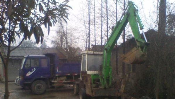 挖掘机 180度 轮式