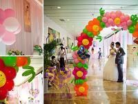 气球婚礼主题现场