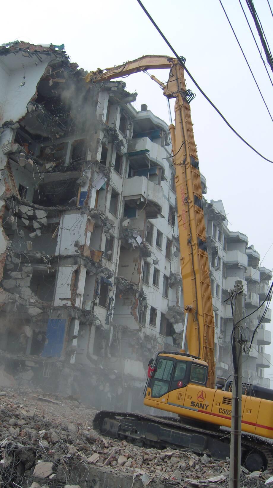 福建地區大型拆除工程,工程拆遷