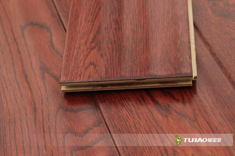 兔宝宝实木复合地板:威尔士红木