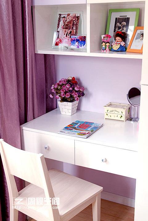 粉色+蓝色 小户型也装出完美新家