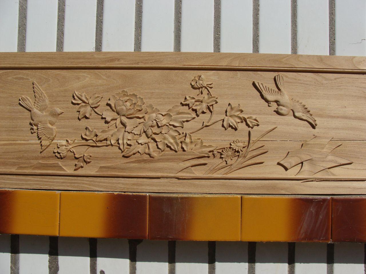 三维浮雕镂空隔断广告雕刻木雕牌匾