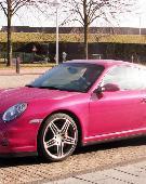 粉红色的保时捷