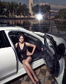 保时捷Panamera与冷艳美女模特