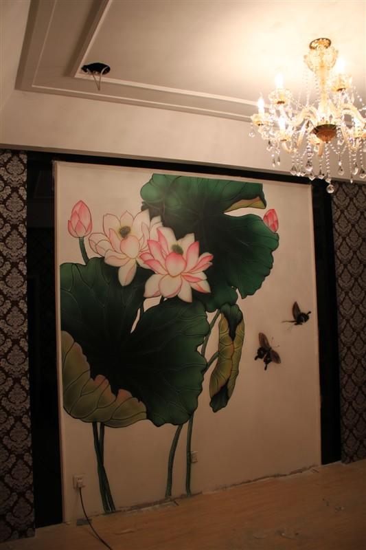 墙绘图片素材荷花