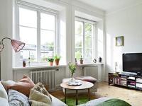 家居装修案例赏析 58平米整体瑞典风格小