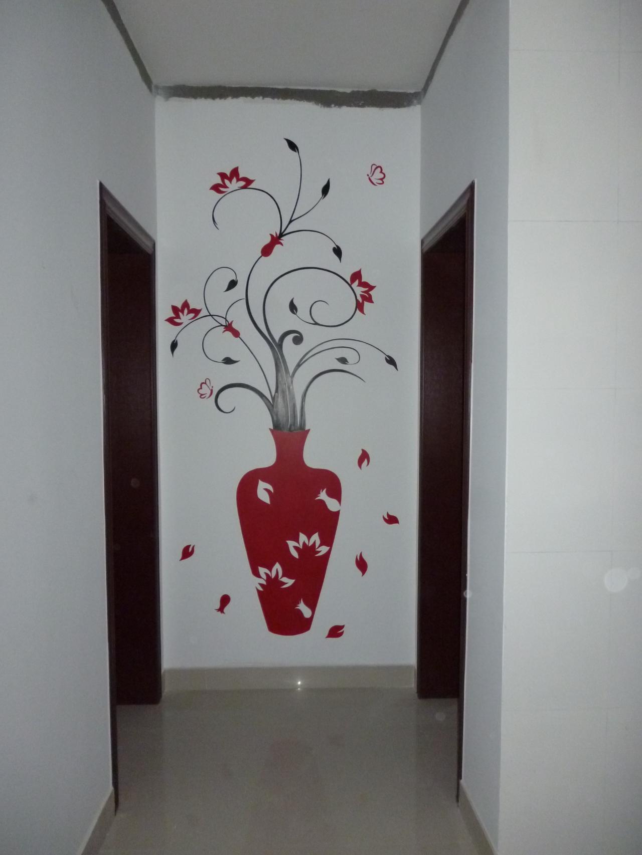 广饶新城花园手绘影视墙