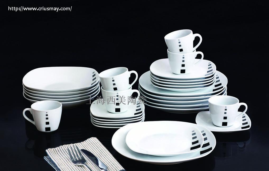宾馆陶瓷餐具批发 上海西美陶瓷