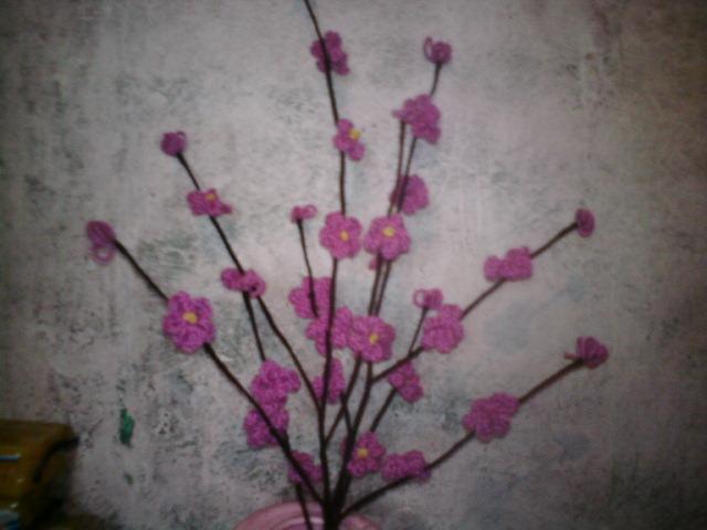 毛線仿真花