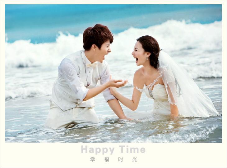 金贵夫人浪漫海边婚纱照