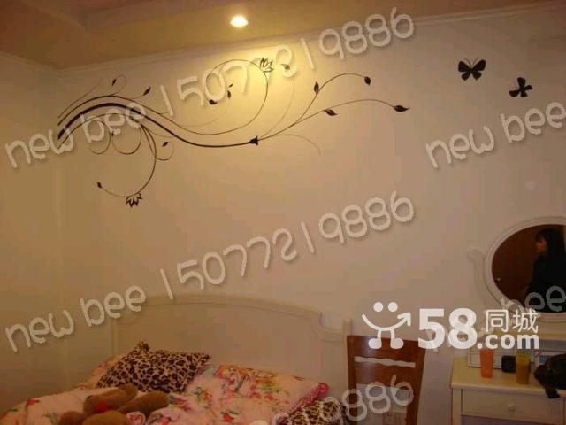 室内:电视背景墙,沙发背景墙,床头背景墙,天花板彩绘等地方为主要施工