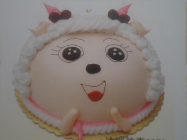 可爱羊蛋糕图片