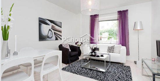 经典紫色小豪宅 剖析44平米小户型