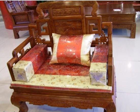 专业定做红木沙发坐垫