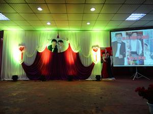 酒店舞台婚场布置