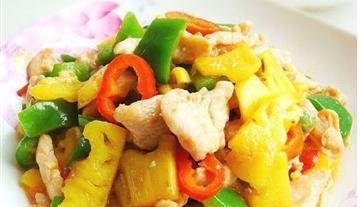 菠萝滑鸡片的做法(水果做的清香美味)