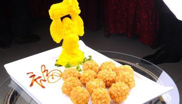 鹅肝酱虾球