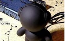 原价48元音乐怪物/超可爱迷你小音箱 Headphonies 磨砂黑现在诱惑团购价仅需28元!