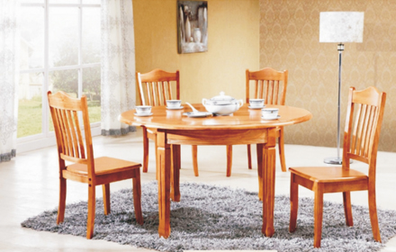 好百年家具城橡木餐桌(1+6)团购价1400元