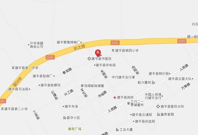 建平县到阿鲁科尔沁旗地图