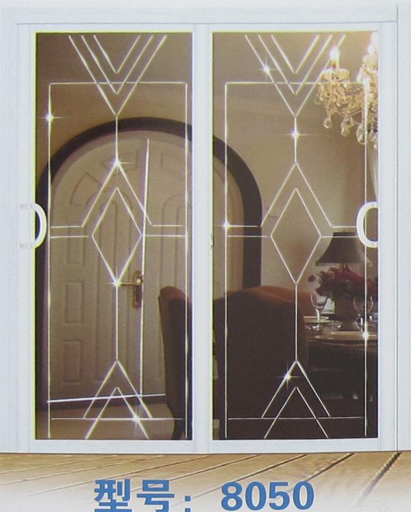 欧式白色玻璃格门书柜